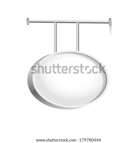 Blank Signboard Isolated on White Background - stock photo
