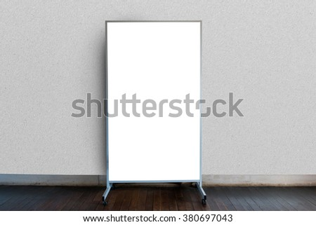 Blank Signboard Template Text On Wooden Stock Photo (Royalty Free ...