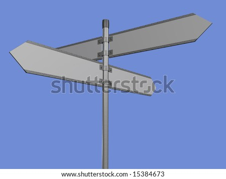 Blank signpost path included