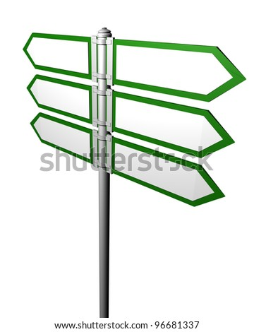 Blank signpost,