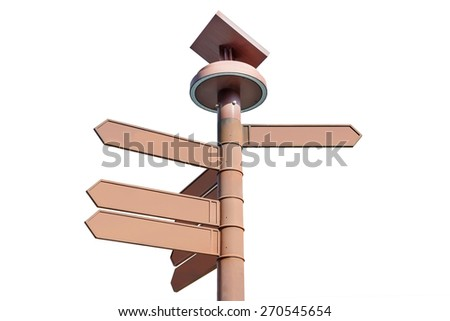 blank signs pointing in opposite directions - stock photo