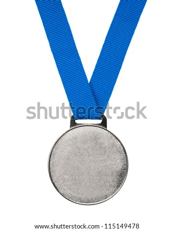 Blank silver Medal - stock photo