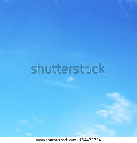 Blank sky surface and clouds - stock photo