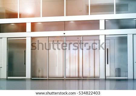 glass door entrance.