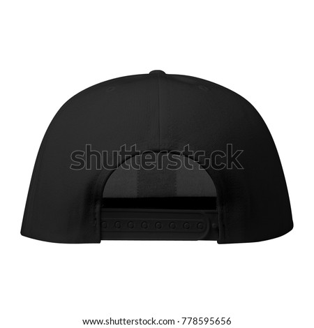 blank snapback hat caps template black stock photo royalty free