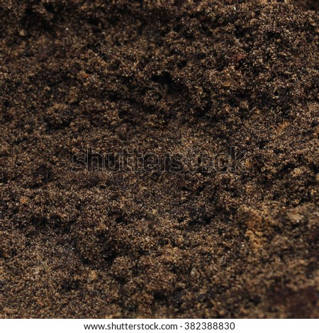 Blank soil surface - stock photo