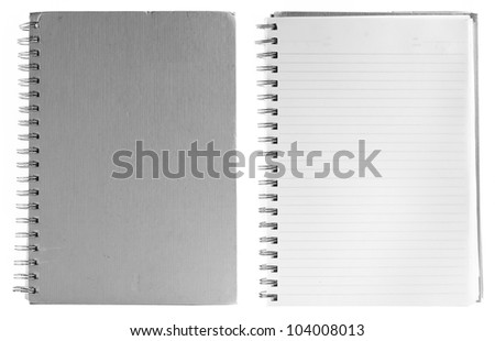 Blank Spiral Notepad isolated on White