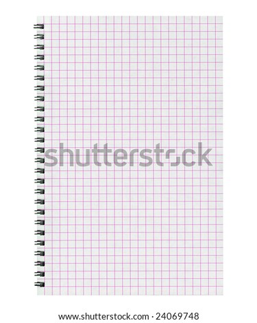 Blank spiraled notebook page sheet (office stationery)