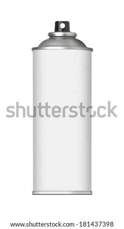 blank spray can - stock photo
