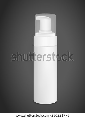 blank spray can isolated on black background