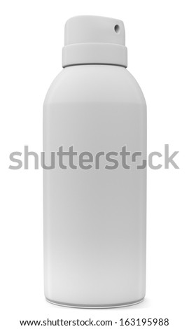 Blank spray can isolated on white background. 3d illustration  - stock photo