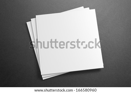 Blank square Magazine on the grunge background for your design - stock photo