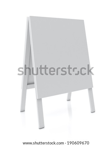blank stand banner isolated on white background - stock photo