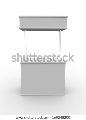 Blank stand. 3D rendered illustration - stock photo