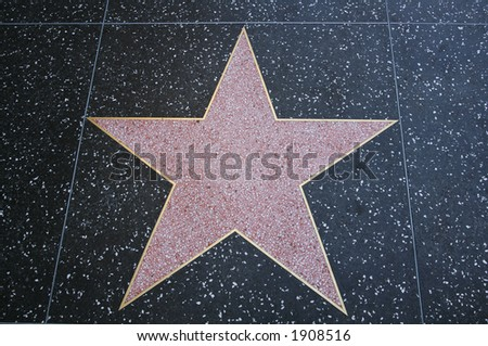 Blank star on the Hollywood Walk of Fame - stock photo