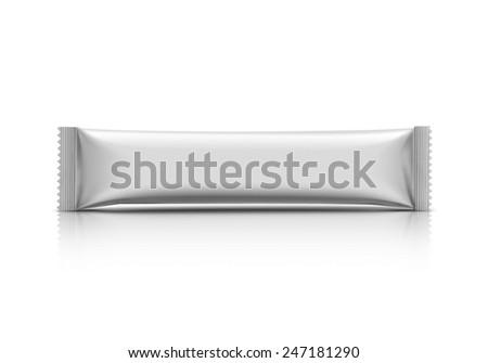 blank stick sachet isolated on white background - stock photo