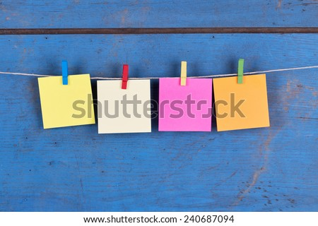 Blank Sticky Notes on a Rope