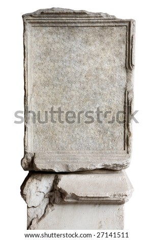 blank stone in Coliseum to put your own text - stock photo