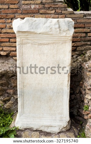 Blank stone tablet uncovered in ruins of ancient Rome
