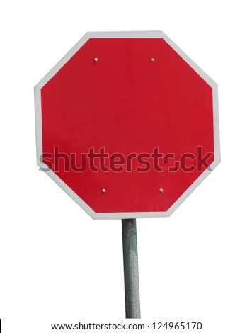 Blank stop sign frame - stock photo