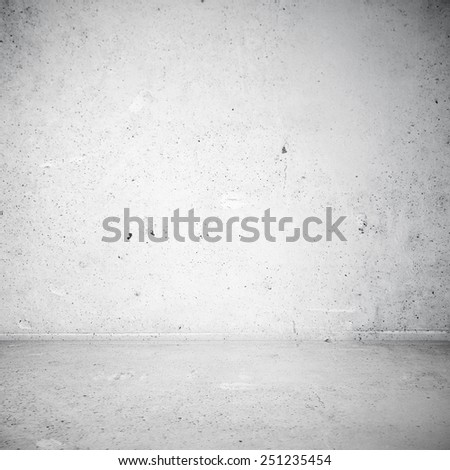 Blank stucco texture of industrial room - stock photo
