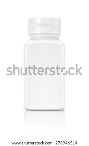 blank supplement packaging bottle isolated on white background