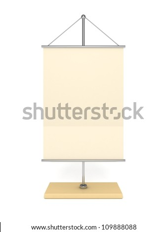 blank table info flag on white background - stock photo