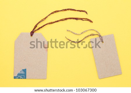 Blank tag - stock photo