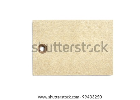blank tag isolated on a white background - stock photo