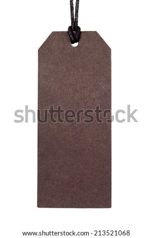 blank tag on isolated background - stock photo