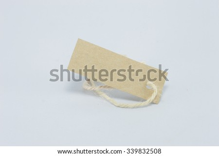 Blank tag. Price tag, gift tag, sale tag, address label on write - stock photo