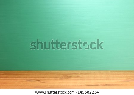 Blank Teacher Chalkboard For Your Text or Graphics  - stock photo