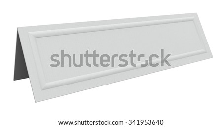 Blank tent card for a name of a speaker, guest, customer, panelist or other person speaking or joining a group or committee as a member - stock photo