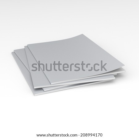 blank three magazines or catalogs. render