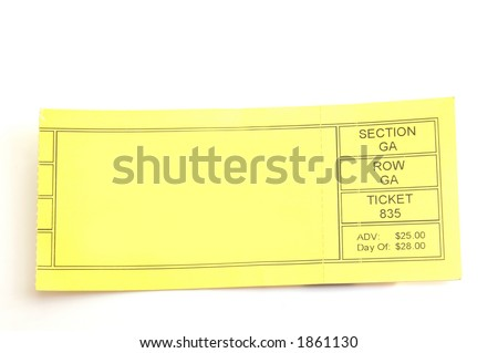 Blank Ticket Stub  Blank Ticket