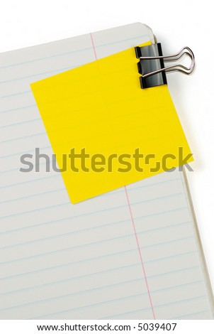 Blank to do list with soft shadow