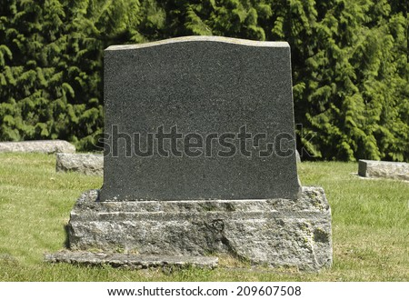 Blank Tombstone - stock photo