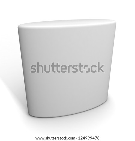 blank trade show booth - stock photo