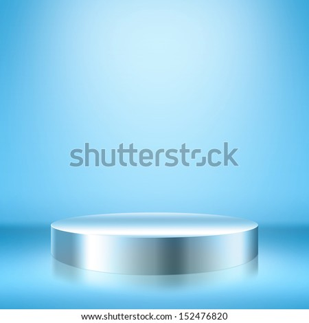 Blank trade show booth for designers. - stock photo