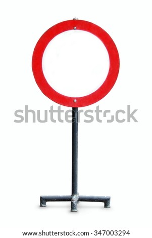 Blank traffic sign or a banner for outdoor advertising