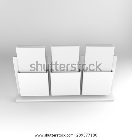 blank triple holder with dl size brochures
