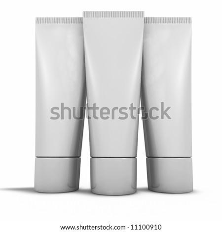 Blank Tubes - stock photo