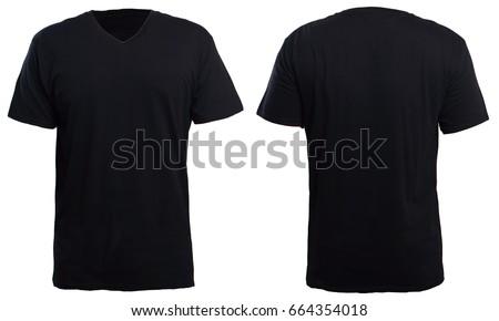 Black t shirt plain back custom shirt for Custom photo t shirts front and back
