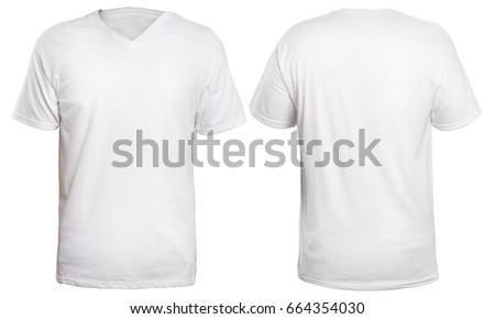 Blank Vneck Shirt Mock Template Front Stock Photo (Royalty Free ...