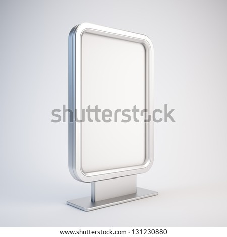Blank vertical billboard - stock photo