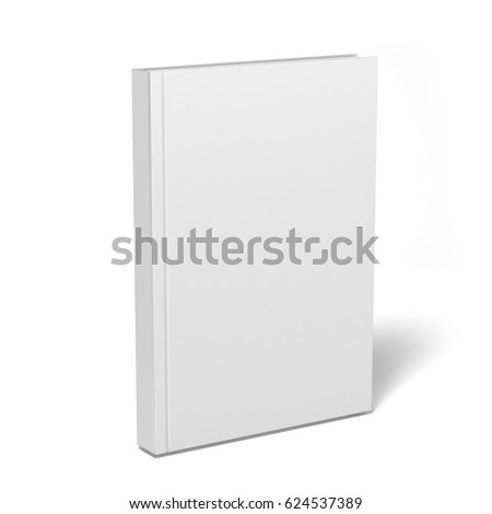 Blank Vertical Book Cover Template Pages Stock Illustration ...