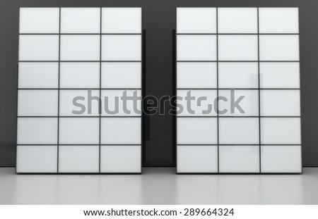 Blank video walls, copy space image.