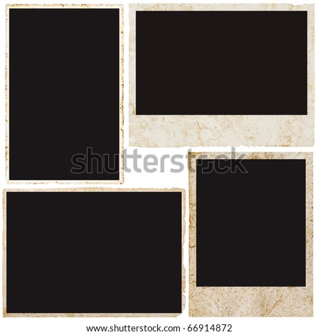 blank vintage photo frame ready to be populated with any image. - stock photo