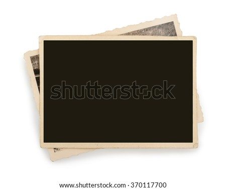 Blank vintage photo paper isolated - stock photo