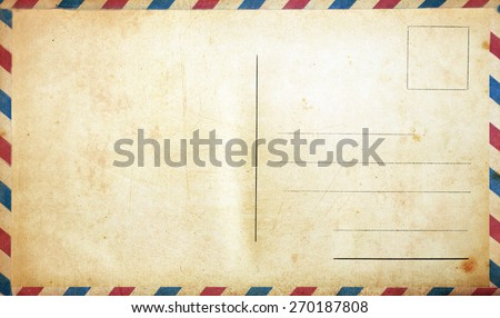 Blank vintage postcard - stock photo